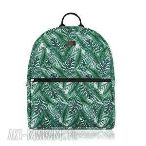 plecak damski 1165 dżungla, plecak, jungle, liście, printy, modny