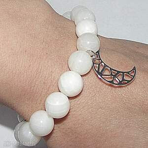 księżyc w kamieniu, księżyc, srebro, kamienie, modna, charms, moon, prezent na