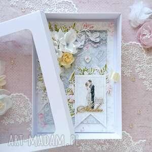 Made by Kate, kartka a5 na ślub, kartka na ślub, ślubna, młoda para