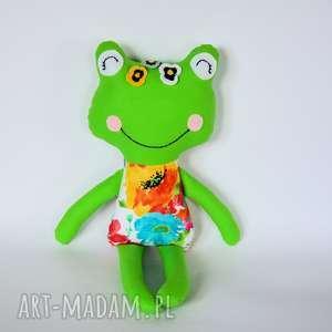 Panna żabka - Marysia 46 cm, żabka, kolorowa, dziewczynka, wiosna, maskotka, roczek