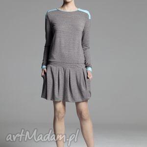 Sukienka Bullet, sukienka, spódnica, kontrafałda, midi, dzianina