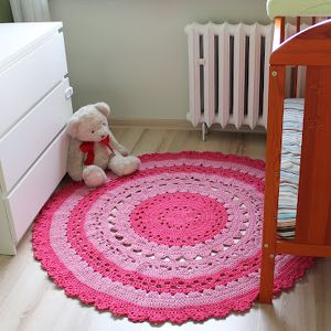 dywan na szydełku, ręcznie robiony, dywan, szydełko, dziewczęcy, romantyczny, sznurek