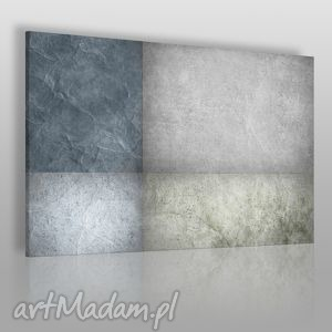 obraz na płótnie - abstrakcja beton 120x80 cm 35501, abstrakcja, beton, prostokąty