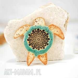Ceramiczny magnes na lodówkę - żółw morski magnesy fingersart