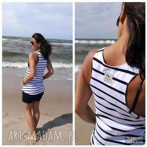 handmade bluzki bluzka bokserka paski| funanori