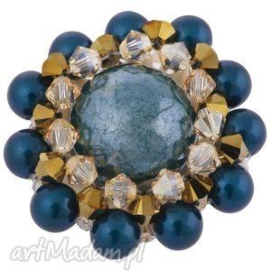morska kryształowa broszka glamour swarovski® elements perły