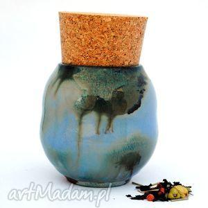 Ceramiczny pojemnik - Pojo IX nr154b , pojemnik, naczynie, ceramika, użytkowe