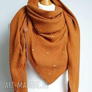 duża chusta bawełniana trójkątna z muślinu, damska chusta