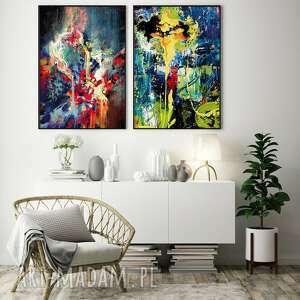 zestaw 2 plakatów abstrakcja #9 30x40 cm, abstrakcja, obraz, plakat, salon