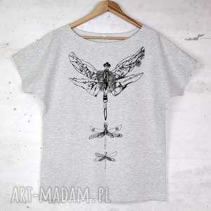 ĆMA koszulka bawełniana szara z nadrukiem S/M, bluzka, koszulka, bawełna,