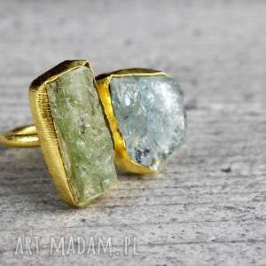 925/18k Pozłacany pierścionek Prehnit y,kamienie,diamenty,pierścionek,