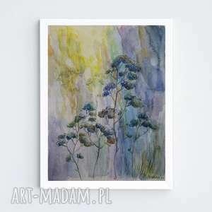 trawy-akwarela formatu 18/24 cm, trawy, papier, akwarela