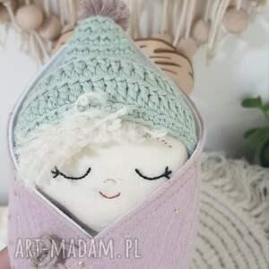 lalki lalka bobas w rożku, bobas, rożku, otulaczu, mini