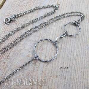 handmade naszyjniki koła w naszyjniku - srebro