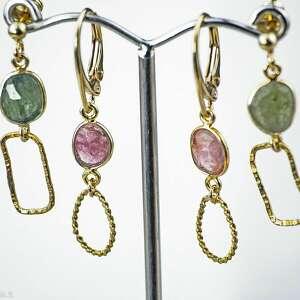 święta, turmalin różowy, kolczyki z kamieniami, turmalin, różowy