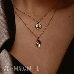 złoty naszyjnik z łezką - pozłacany łezka, złoto