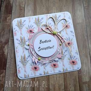 Ślubne kwiatki scrapbooking kartki cynamonowe życzenia-ślubne