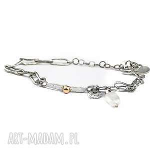 bransoletka srebrna, kamień księżycowy, srebro925