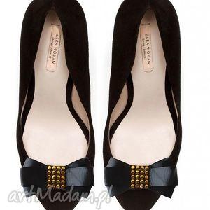 black bows - klipsy do butów, kokardy, złoto, broszki, klipsy, buty, ozdoby