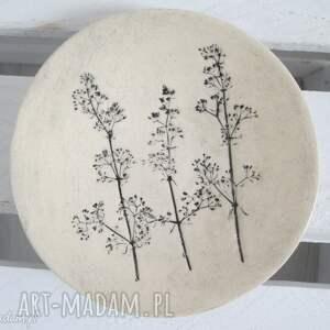 hand-made ceramika roślinny malutki talerzyk