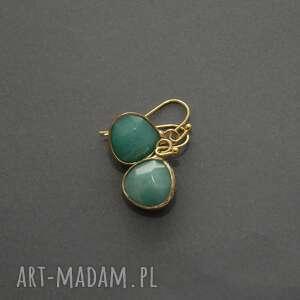 kolczyki z jadeitami, jadeit, wyjściowe, delikatne, eleganckie, kamień