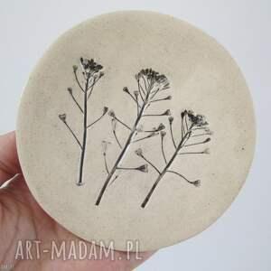 ceramika roślinny malutki talerzyk, mały, na biżuterię