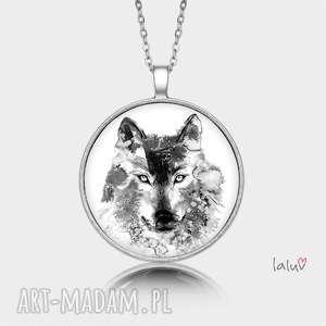 medalion okrągły wilk - prezent, basior, wataha, wycie, pełnia, drapieżnik