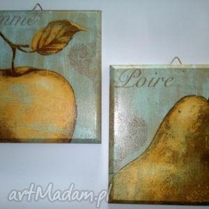 obrazek decoupage - złota reneta, obrazek, obraz, jesienny, jesienna, jesień
