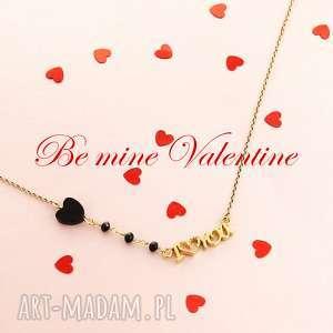 NASZYJNIK I LOVE YOU serce SREBRO 925 pozłacane, naszyjnik, walentynki, srebro, love