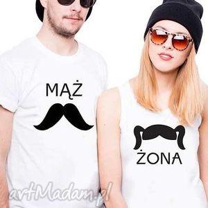 hand-made koszulki koszulki dla par mąż/żona