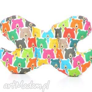 poduszka podróżna motylek motyl kolorowe misie amarant - zagłówek