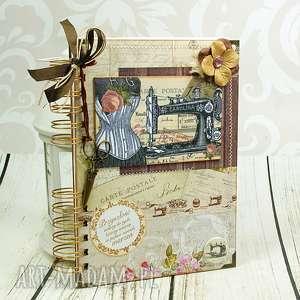 oryginalne prezenty, shiraja notatnik - krawieckie retro, krawiecki, notes