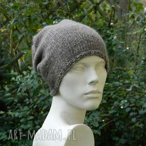 unisex przejściowa czapka bawełna merino, melanżowa