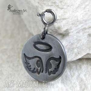 Prezent Niebo :) charms/wisior, charms, wisior, anioł, niebo, srebro, prezent