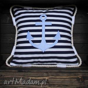poduszka jaś marine - zbyszek, marine, marynicztyczny, marynarski, kotwica, morze