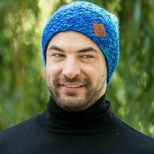 handmade czapki explorer cieniowany mocniejsze błękity 129 zł