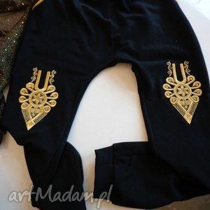 """Dresy portki folk design aneta larysa knap """"góralskie"""" spodnie"""