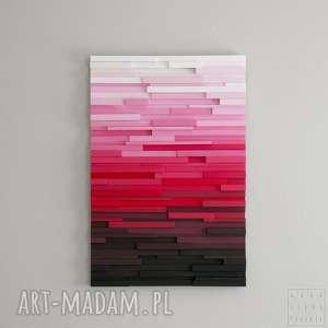 obraz drewniany 3d mozaika drewniana pink p, ombre, gradient, mozaika, prezent