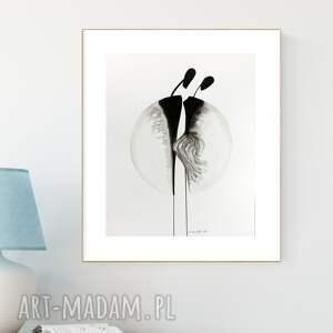 obraz ręcznie malowany 40 x 50 cm, nowoczesna abstrakcja, 2898187