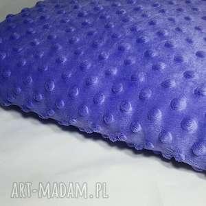 hand-made poduszki fioletowa poduszka minky