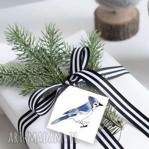 parallel world ptasie bileciki na świąteczne prezenty 6 szt, ptaki, zawieszki
