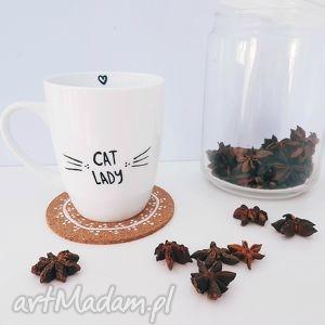 kubek cat lady ręcznie malowany - ,kubek,kot,kotek,cat,lady,malowany,
