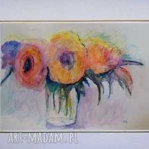 kwiaty w akwareli