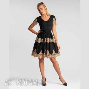 sukienka ileana mini faustina, mini, wieczorowa, bawełniana