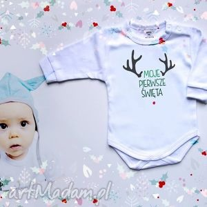 pomysł na prezent świąteczny Moje Pierwsze Święta 74 cm - Body dla niemowlaka, święta