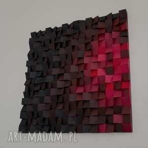obraz drewniany 3d mozaika drewniana piekło - ścianka, mroczny