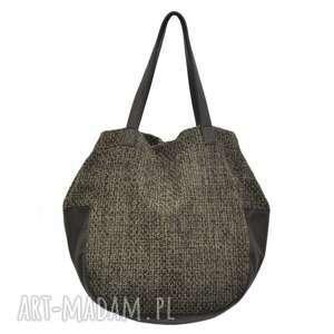 24-0029 Brązowa torebka damska worek / torba na studia SWALLOW, duże, modne, torebki