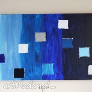 obraz - niebieski akryl na płótnie nowoczesny, obraz, ezoteryczny