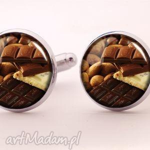 łasuch - spinki do mankietów słodycze, łasucha, czekolada