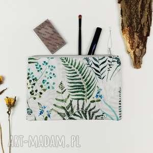 kosmetyczka leśna xxl, kosmetyczka, paprotki, las, leśna, góry,